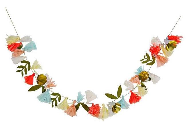 floral garland birthday party supplies