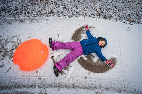 sledding, ideas for winter birthday parties