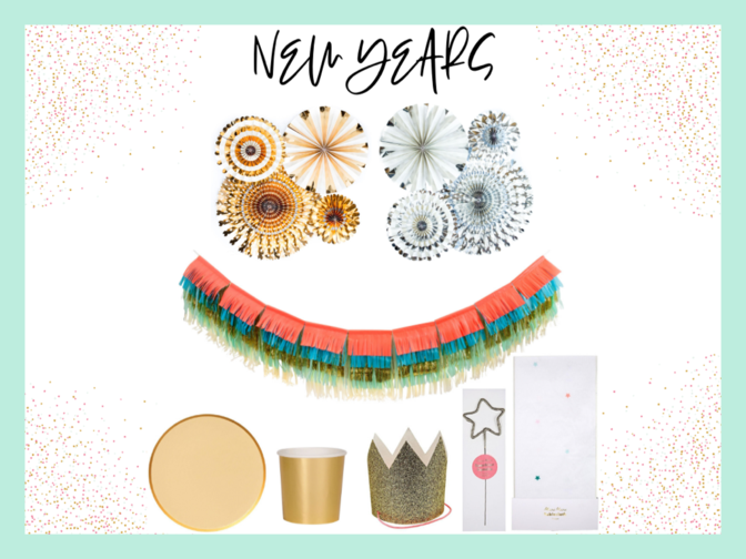 New Years eve party box from Caring Confetti