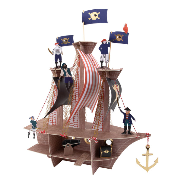 pirate ship centrepiece made by Meri Meri for table tops and birthday parties for pirate themed party