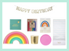 Rainbow Birthday Party Supplies and Decor Box
