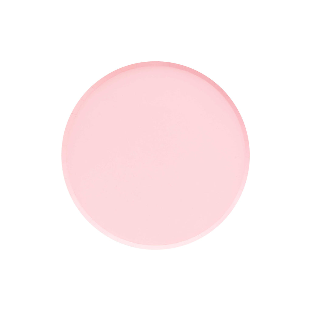 pink blush small paper plates