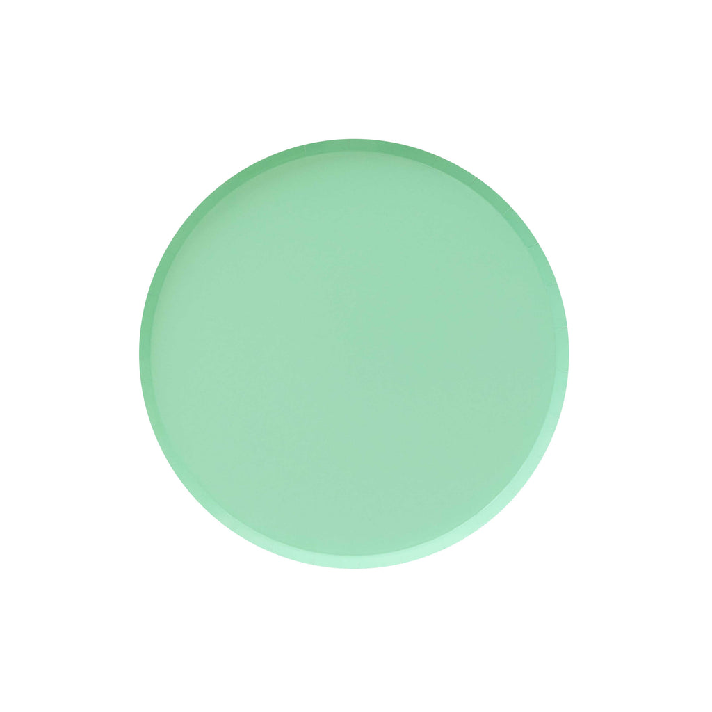 Mint Green Party plates. Made by Oh Happy Day!