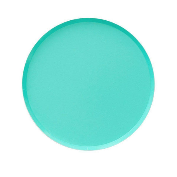 mint paper party plates from oh happy day