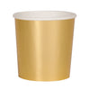 gold paper party cup. Made by Meri Meri