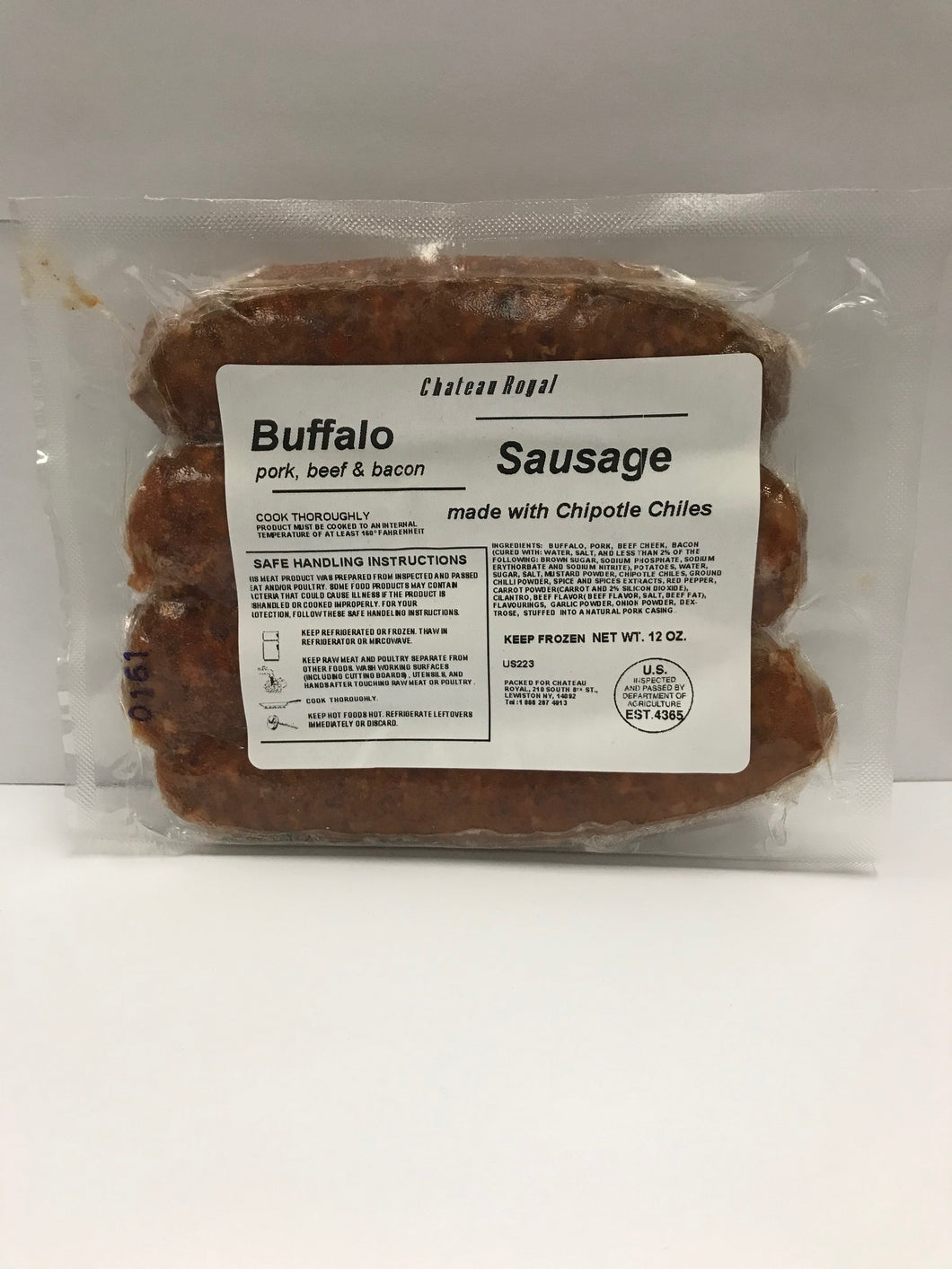 Sausage, Bison with Chipotle Chilies (4-links | 12oz)