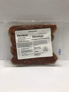 Sausage, Venison with Merlot & Blueberries (4-links |12oz)