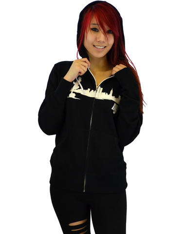 Notifuro King of NYC Zip Hoodie - Black (Unisex)