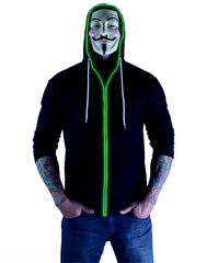 Glow in the Dark Light Up Hoodie - Hulk Green