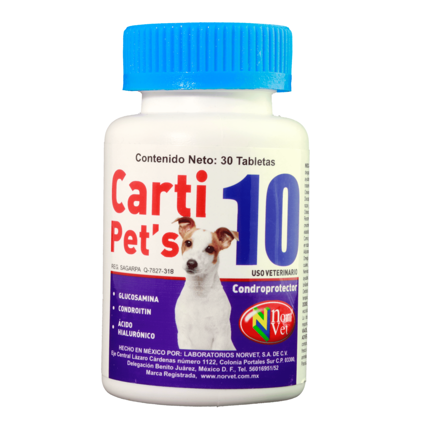 Carti pet's 10 NRV 30 tabletas