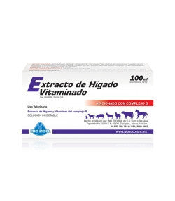 Extracto de Hígado Vitaminado Frasco con 100 ml