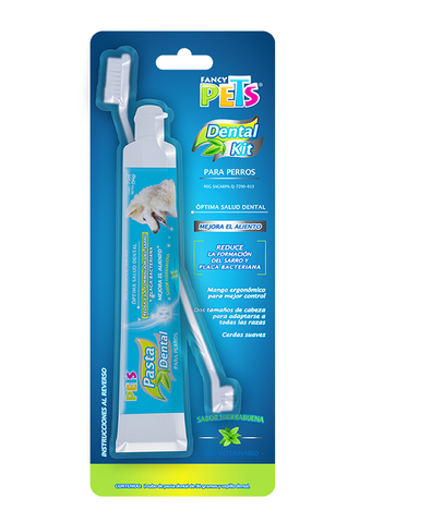Kit Dental Pasta y Cepillo Dental para perros