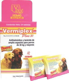 Vermiplex Plus 30 kg Exhibidor con 24 Tabletas