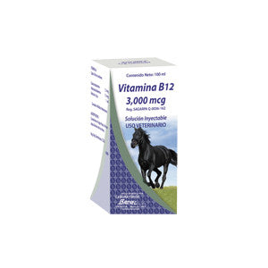 Vitamina B12 1 ml = 3,000 mcg Frasco ámpula 100 ml