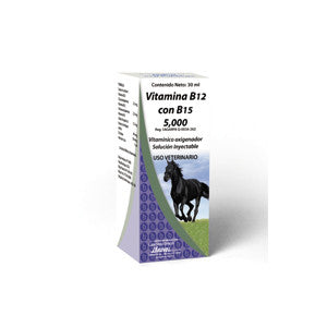 Vitamina B12 con B15 5,000 Frasco con 30 ml