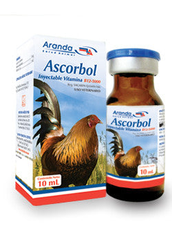Ascorbol Inyectable Vitamina B12 - 5000 Frasco con 10 ml