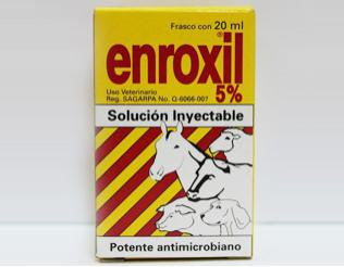 Enroxil 5% inyectable 20 ml.