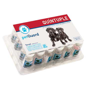 Quintuple Pet-Guard Blister con 12 dosis
