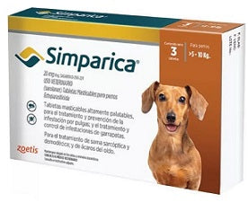 Simparica 20 mg ( 5-10 kg ) 3 tabletas