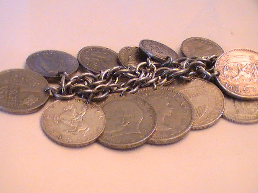 FROM THE BELL TOWER-- COINS OF PROSPERITY BRACELET