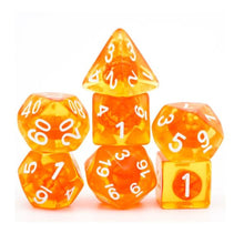 Load image into Gallery viewer, Tangerine Dream Polyhedral Dice Set for Dungeons & Dragons