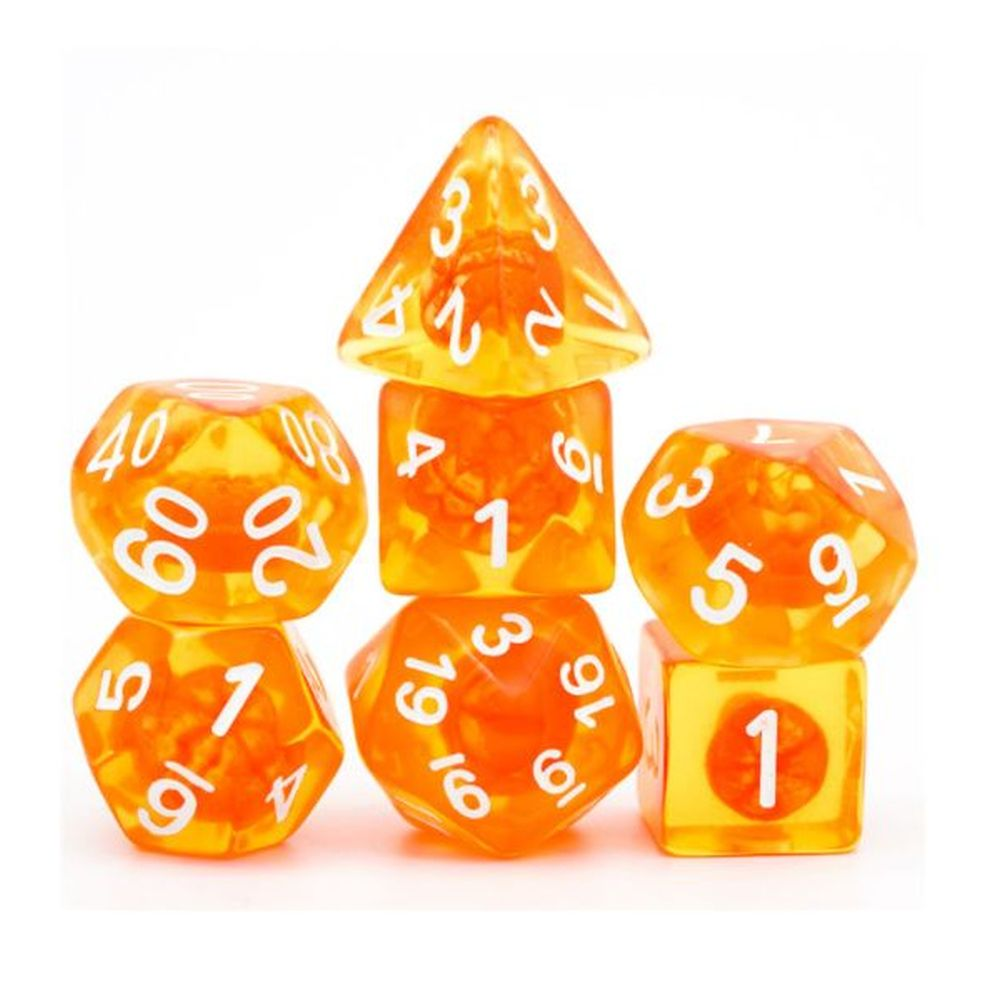 Tangerine Dream Polyhedral Dice Set for Dungeons & Dragons