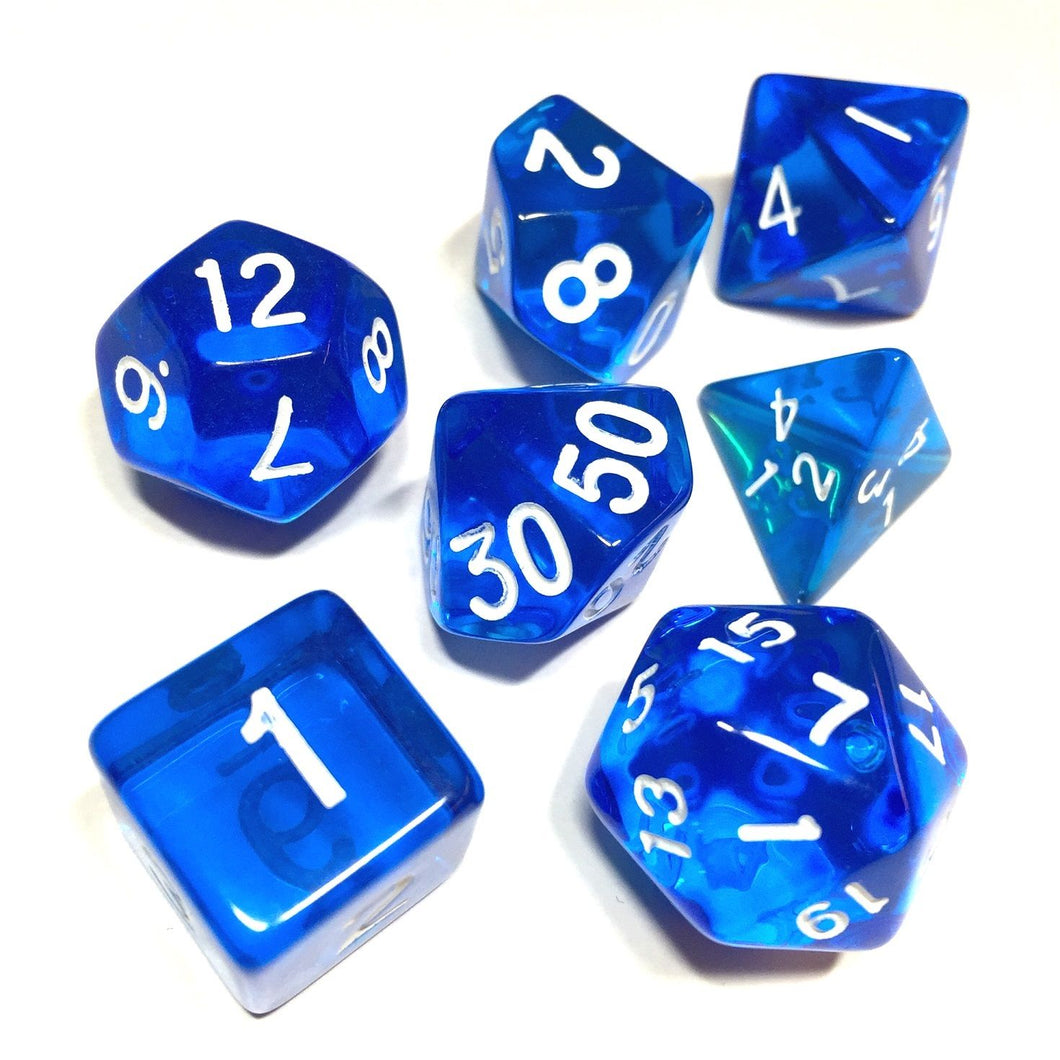 Clear Transparent Polyhedral Dice Set for Dungeons & Dragons