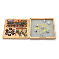 Wood Polyhedral Dice Vault & Tray for Dungeons & Dragons