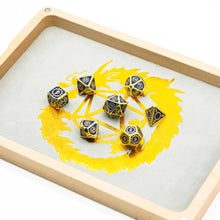 Load image into Gallery viewer, Wood Polyhedral Dice Vault & Tray for Dungeons & Dragons (Rectangular)