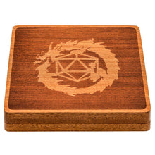 Load image into Gallery viewer, Wood Polyhedral Dice Vault & Tray for Dungeons & Dragons