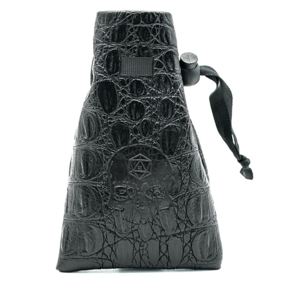Skull Leather Polyhedral Dice Bag for DND Dungeons & Dragons