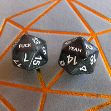 Load image into Gallery viewer, Fuck/Yeah D20 Dice Set for DND Dungeons & Dragons