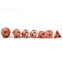 Load image into Gallery viewer, Copper Metal Polyhedral Dice Set for Dungeons & Dragons