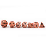 Copper Metal Polyhedral Dice Set for Dungeons & Dragons