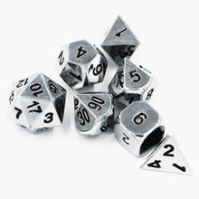 Load image into Gallery viewer, Mithril Metal Polyhedral Dice Set for Dungeons & Dragons