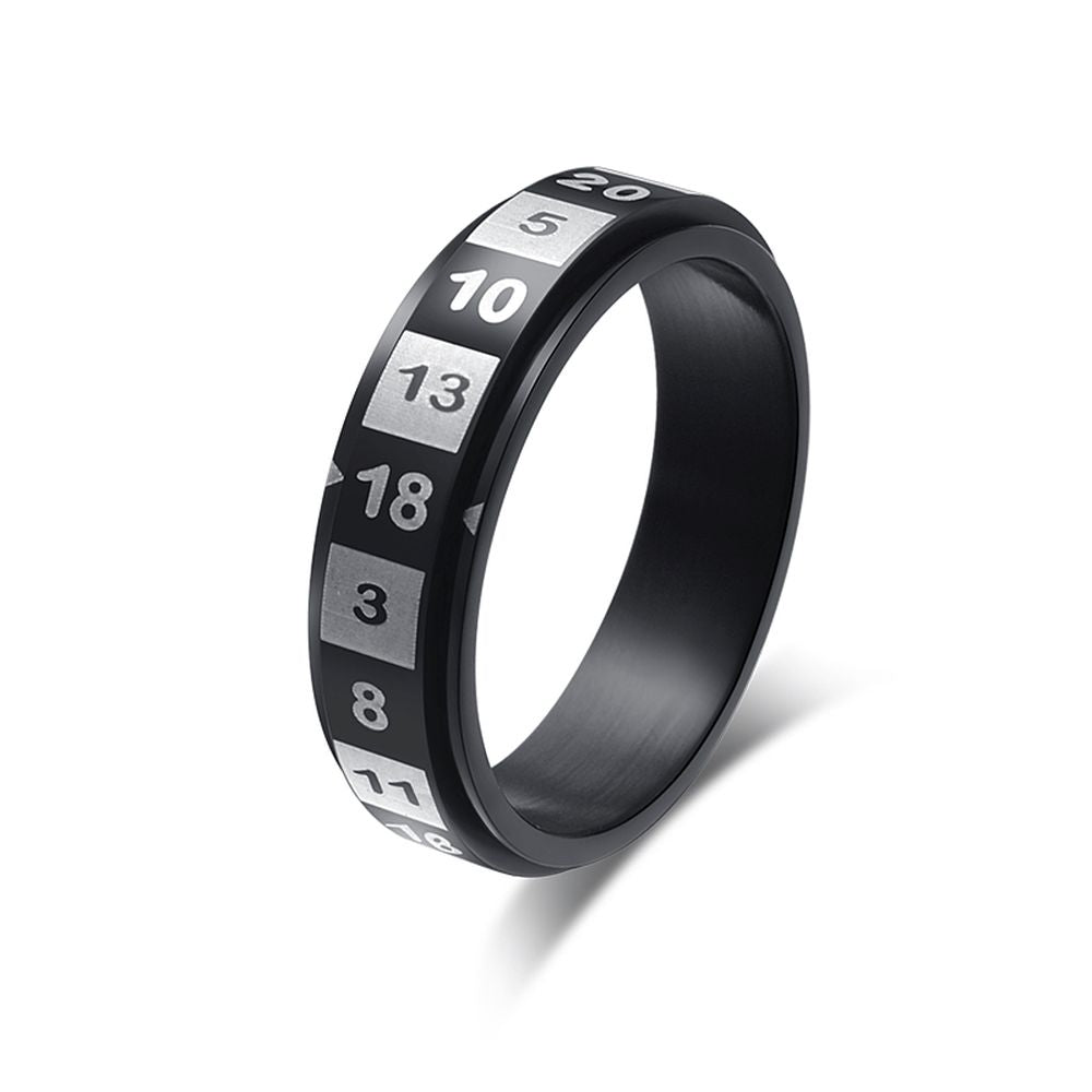 D20 Spinner Ring for Dungeons & Dragons