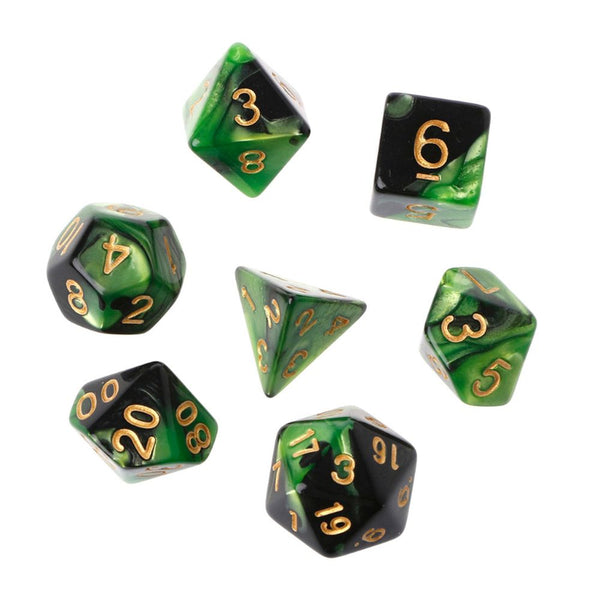 Nebula 2-Color Polyhedral Dice Set for Dungeons & Dragons