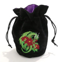 Load image into Gallery viewer, Dragon-Themed Polyhedral Dice Bag for Dungeons & Dragons