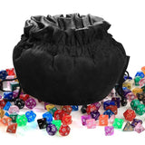 Large Black Polyhedral Dice Bag for Dungeons & Dragons