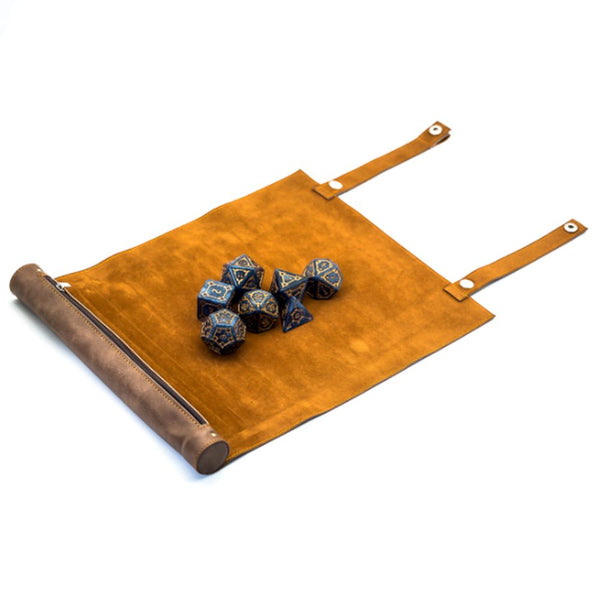 Leather Dice Mat and Bag for Dungeons & Dragons