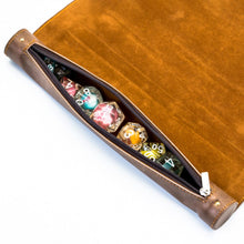 Load image into Gallery viewer, Leather Dice Mat and Bag for Dungeons & Dragons