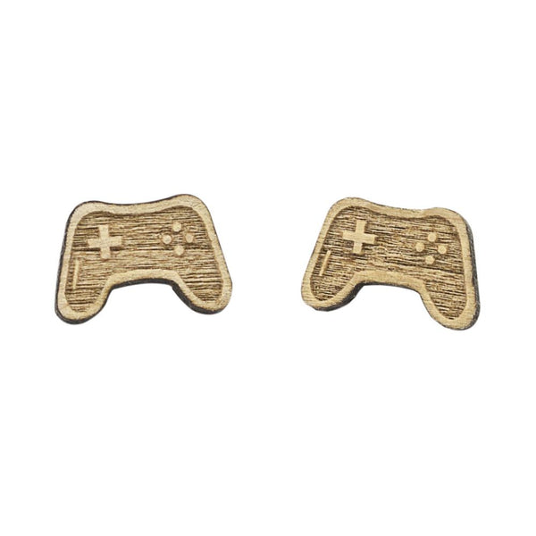 Video Game 64-bit Controller Mini Wood Earrings