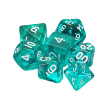 Load image into Gallery viewer, Clear Transparent Polyhedral Dice Set for Dungeons & Dragons