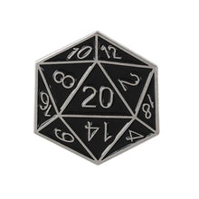Load image into Gallery viewer, D20 Polyhedral Dice Pin - Dungeons & Dragons Brooch
