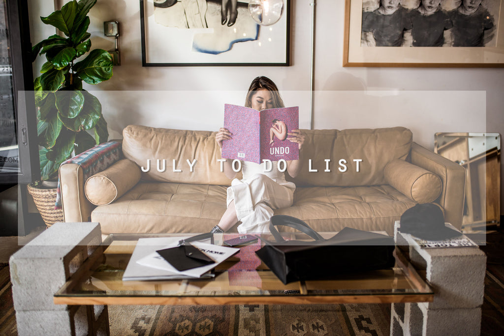 July To Do List