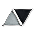 Leather Triangle Catch All Black and Grey