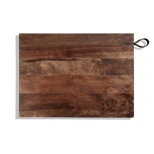 Birch Cutting Board with Leather Strap