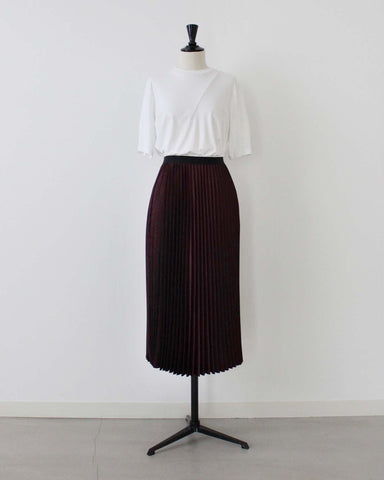 Satin pleated skirt - 08sircus
