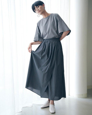 ◎Cu/C Poplin gather wrap skirt - 08sircus