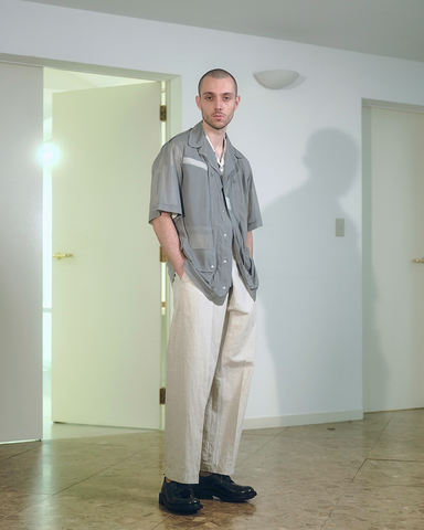 Organic cotton linen chino cloth wrap pants